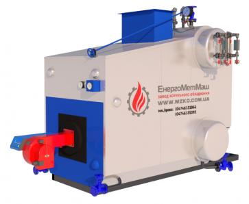 Паровой котел 1,0 тонна пара/час (топливо: газ)