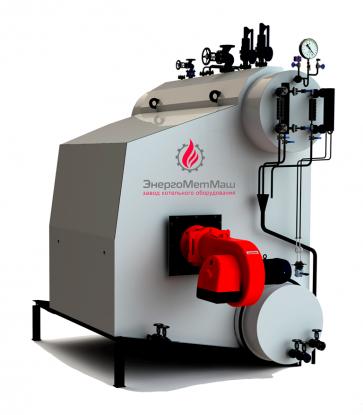 Паровой котел 2,5 т. пара/час (топливо: газ, жидкое)