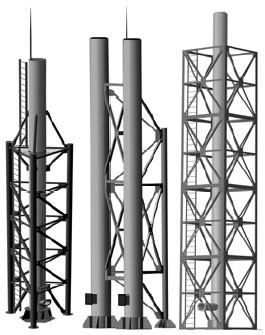 Трубы дымовые стальные в каркасе